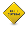 road sign - cost cutting vector image
