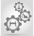 gear mechanism concept 16a vector image vector image
