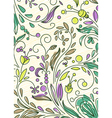 doodles floral background vector image vector image