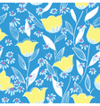 floral seamless background in doodle style vector image