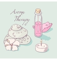 Aromatherapy and spa hand drawn clip art vector image