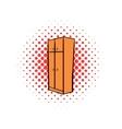Brown wardrobe comics icon vector image