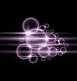 bubbles with light purple color vector image