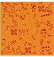 Orange backgrounds car doodle art vector image