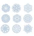 Set of abstract circular ornaments vector image