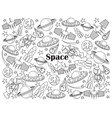 Space colorless set vector image