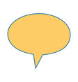 speech bubbles message icon vector image
