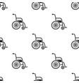 wheelchair icon black single medicine icon from vector image