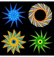 Flowers and geometric shape of the star vector image