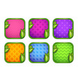 colorful app icons with different patterns vector image