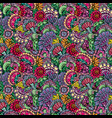 abstract decorative seamless pattern with hand vector image vector image
