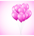 background with pink balloons vector image