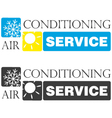 air conditioning service vector image