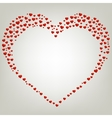 Heart Valentines day card Frame vector image