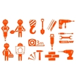 construction industry set vector image