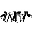 Silhouette of the Charleston dancers legs vector image
