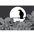 silhouette crow vector image