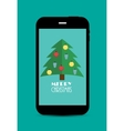 Abstract Christmas and New Year Mobile Phone vector image