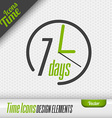 7 Days Icon Design Elements vector image