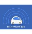 Self-driving car black icon vector image