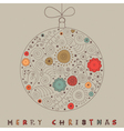 Christmas Patterned Bauble Card vector image