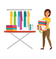 clothes drying outdoors vector image