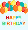 Happy birthday card with balloon vector image