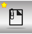note black icon button logo symbol vector image