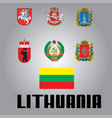official government elements of lithuania vector image
