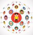 Social Media Globe Network Internet chat vector image