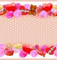 Valentine Day Border vector image