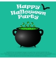 Postcard invitation to the Halloween party vector image