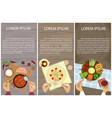 vegetarian menu for lunch vector image