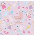 Baby girl texture layette pattern vector image