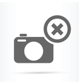 camera delete symbol icon vector image