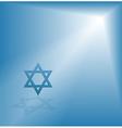 bright light david star vector image