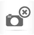 camera delete symbol icon vector image