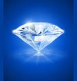 Diamond on blue background vector image