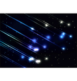 Meteor shower in space vector image