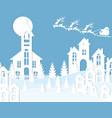 new year christmas an image of santa claus and a vector image