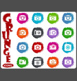 photo camera icon set vector image