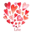 The pattern of valentine hearts vector image