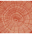 Tree Rings Red Textured Background vector image