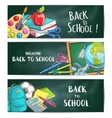 Back to school welcome banner backgrounds vector image