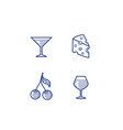 wine icons set vector image vector image