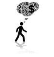Financial worries vector image vector image