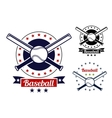 Baseball sport team badges vector image