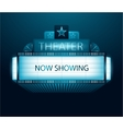 Now showing movie theater banner vector image vector image