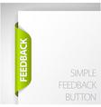 feedback sticker vector image