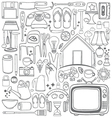 Doodle household drawing vector image
